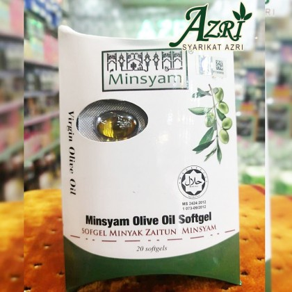 MINSYAM OLIVE OIL SOFTGEL PACKET 20's